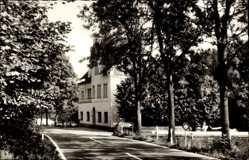 Postcard Bielstein Wiehl im Oberbergischen Kreis, Haus Waldfrieden, Straßenpartie