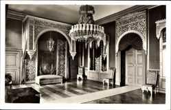 Postcard Bad Arolsen Hessen, Fürstliches Residenzschloss, die Alhambra, Innenansicht