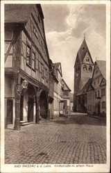 Postcard Nassau im Rhein Lahn Kreis, Kirchstraße mit altem Haus