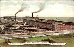 Ak Leipzig, Maschinenfabrik Karl Krause, Fabrikansicht