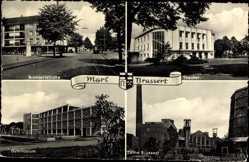 Ak Marl Brassert, Brassertstraße, Theater, Gymnasium, Zeche Brassert