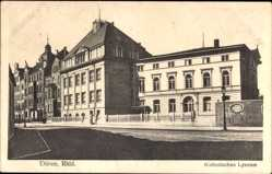 Postcard Düren in Nordrhein Westfalen, Blick auf katholisches Lyzeum
