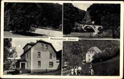 Postcard Mettelhahn Bertenau Neustadt, Pension Mettelshahner Schweiz, Heinrich Meier