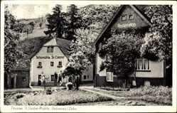 Postcard Dausenau an der Lahn, Blick auf Pension St. Castor Mühle und Restauration