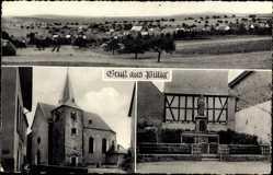 Postcard Pillig in Rheinland Pfalz, katholische Pfarrkirche St Firminus, Denkmal
