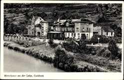 Postcard Fachbach Rheinland Pfalz, Wirtshaus an der Lahn