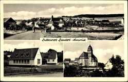 Postcard Laudert Hunsrück, Totalansicht mit Blick in den Ort