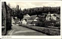 Postcard Grenzau Höhr Grenzhausen im Westerwaldkreis, Mauerpartie, Ruine, Kirche