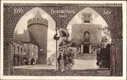 Postcard Brandenburg an der Havel, Lanzenträger, Steintorturm, 1000 Jahre Stadt