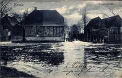 Postcard Rheda Wiedenbrück, Partie am Fluss mit Wassermühle