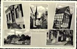 Postcard Glandorf in Niedersachsen, altes Posthotel, am Thie, romantischer Giebel