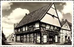 Postcard Quakenbrück in Niedersachsen, Gaststätte zur Hopfenblüte