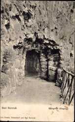 Postcard Bad Bertrich in der Eifel, Blick auf den Eingang der Käsegrotte