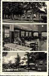 Postcard Dülmen in Nordrhein Westfalen, Ausflugslokal Bispinghoff, Innenansicht