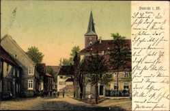 Postcard Voerde in Westfalen, Blick auf den Markt, Kirchturm, Kinder, Häuser