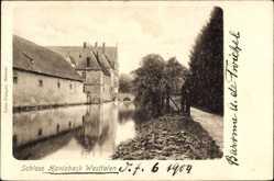 Postcard Havixbeck in Nordrhein Westfalen, Blick auf das Schloss, Gewässer