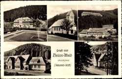 Postcard Brilon Wald im Hochsauerlandkreis, Blick auf das Johannes Stift, Kirche
