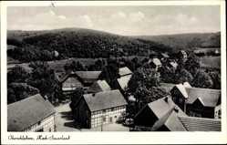Postcard Oberschledorn Medebach im Hochsauerlandkreis, Blick auf den Ort