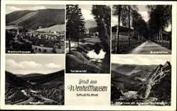 Postcard Wenholthausen Eslohe im Hochsauerlandkreis, Birkenallee, Wennetal, Berg