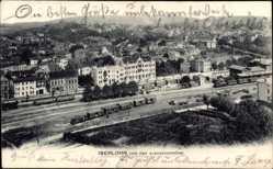 Postcard Iserlohn im Märkischen Kreis, Von der Alexanderhöhe gesehen, Gleise