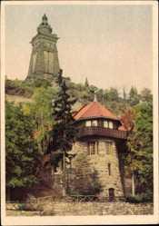 Postcard Steinthaleben Kyffhäuserland Thüringen, Denkmal, Haus, Turm