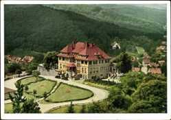 Postcard Gernrode Harz, Kurhotel Stubenberg, Hans Weves, Parkanlage