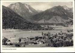 Postcard Osterhofen Bayrischzell im Mangfallgebirge Oberbayern, Totale, Berge