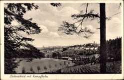 Ak Lüdenscheid im Märkischen Kreis, Blick auf den Ort mit der Kampfbahn