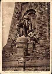 Postcard Steinthaleben Kyffhäuserland Thüringen, Reiter Monument am Kyffh. Denkmal