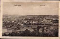 Postcard Zweibrücken in Rheinland Pfalz, Panoramaansicht der Ortschaft, Felder