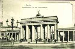 Postcard Berlin Mitte, Blick auf das Brandenburger Tor vom Tiergarten aus