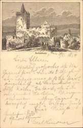Ganzsachen Vorläufer Ak Bad Kösen, Rudelsburg, 1888, GS PP9 F368