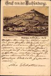 Vorläufer Litho Arnstadt im Ilm Kreis Thüringen, Wachsenburg, 1889