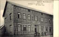 Postcard Marlishausen Wipfratal Thüringen, Gasthaus zum goldnen Greif, Alfred Voigt