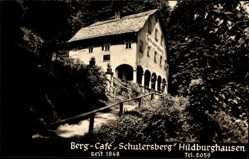Foto Ak Hildburghausen im Tal der Werra Thüringen, Berg Café Schulersberg