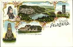 Litho Feldberg im Schwarzwald Baden Württemberg, Denkmal, Feldberger Hof