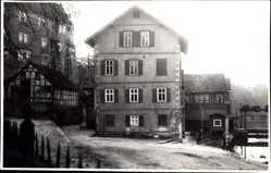 Foto Ak Eschwege im Werra Meißner Kreis, Wohnhaus, Vorplatz
