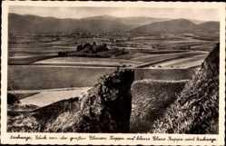 Postcard Eschwege im Werra Meißner Kreis, Blick von der blauen Kuppe, Felder, Berge