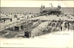 Postcard Ostseebad Ahlbeck Heringsdorf, Seebrücke, Blick zum Meer