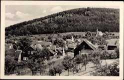 Postcard Martinroda Thüringen, Totalansicht der Ortschaft, Kirche