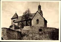 Postcard Petersberg bei Fulda, Katholische Pfarrkirche, Ehem. Benediktinerkloster, SO
