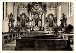 Postcard Volkach im Kreis Kitzingen Unterfranken, Hochaltar von Seb Urlaub, Spätgotik