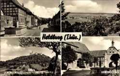 Postcard Bad Colberg Heldburg Thüringen, Ernst Thälmann Str., Unteres Tor