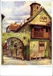 Künstler Ak Lüttgens, Gustav, Erfurt in Thüringen, Partie an der Paulstraße