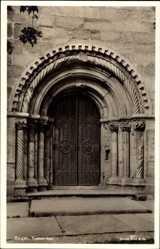 Postcard Bergen Norwegen, Tyskekirken, Eingangsportal zur Deutschen Kirche