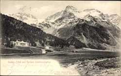 Ak Südtirol, Sulden Hotel und Vordere Schöntaufspitze