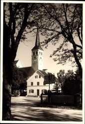 Foto Ak Mindelheim im schwäbischen Kreis Unterallgäu, Blick auf Kirche