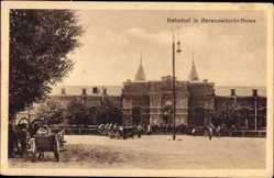 Postcard Baranawitschy Baranowitschi Nowa Weißrusslandn Blick auf den Bahnhof, Straße