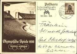 Ganzsachen Ak Berlin, Olympische Spiele 1936, 1 bis 16 August