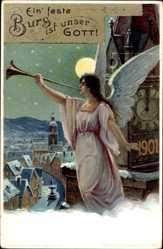 Ganzsachen Ak Glückwunsch Neujahr, Neujahr 1901, PP18 C2 01